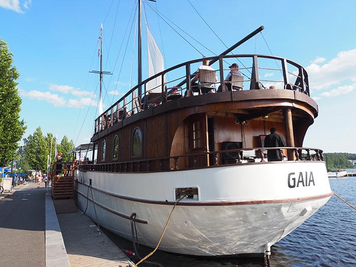 Ravintolalaiva Gaia Jyväskylän satamassa