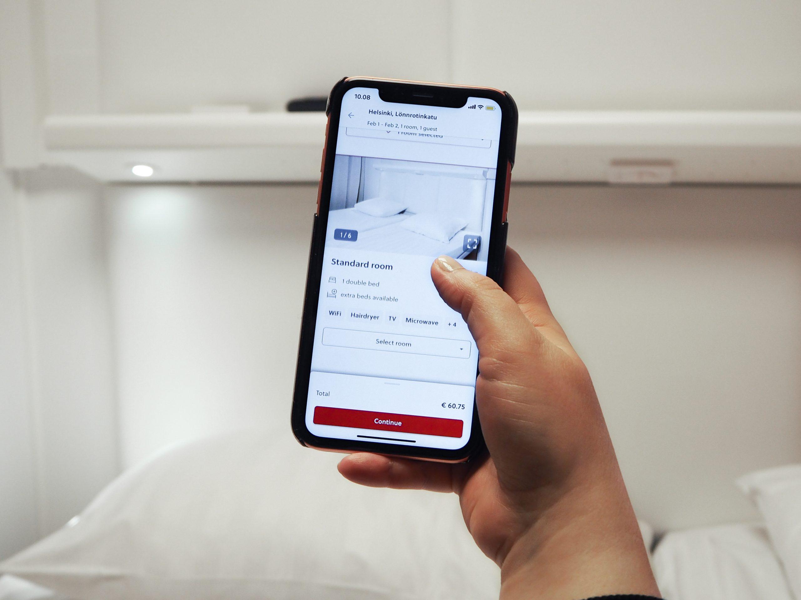 Omena-hotellien mobiilisovellus