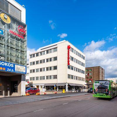 Jyväskylän Omena-hotellin julkisivu